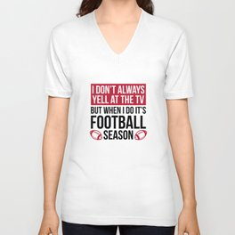Football Season Unisex V-Neck