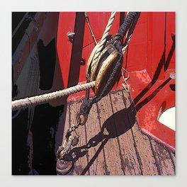 Tall Ship Detail Canvas Print