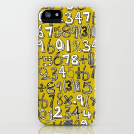 math doodle yellow iPhone Case