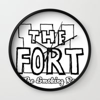 logo Wall Clocks featuring Logo by The Fort by The Smoking Roses!