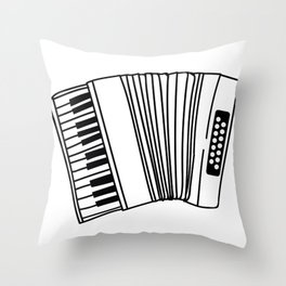 Accordion Player Melodeon Piano Accordionist Gift Throw Pillow