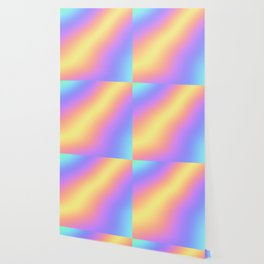 Colorful Gradient Abstract Rainbow Pattern Holographic Foil Wallpaper