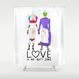 LOVE is no BUTT Joke - Handwritten Shower Curtain