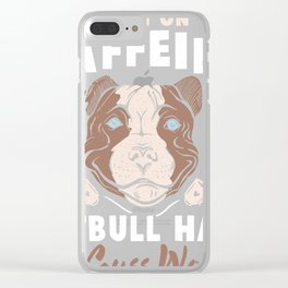 Funny Pitbull Hair and Caffeine design Pit Bull Fans graphic Clear iPhone Case