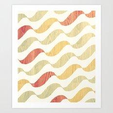 Wave wood Art Print