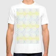 Polka dots MEDIUM White Mens Fitted Tee