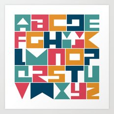 HERUFI - Colli13 alphabet v2 Art Print