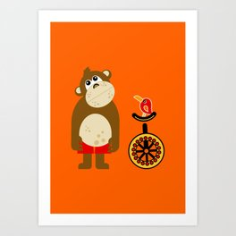 Mr. Monkey Art Print
