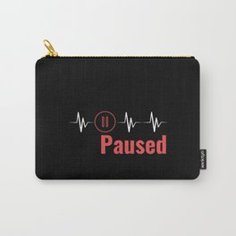 Paused | Heartbeat Break Design Carry-All Pouch