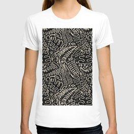 Leaf Mudcloth in Black + Bone T-shirt
