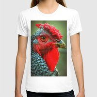 rooster T-shirts featuring Rooster by Nichole B.