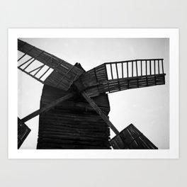 Wooden Windmill Art Print