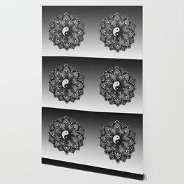 Yin and Yang Mandala (Black & White) Wallpaper