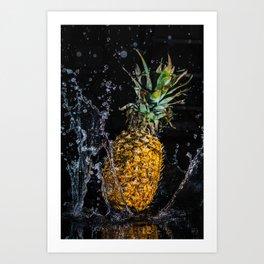 A splash of pineapple Art Print
