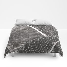 Tropical Leaves No1 Comforters