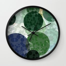 White Lines and Circles. Wall Clock