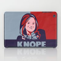 leslie knope iPad Cases featuring vote for knope by studiomarshallarts