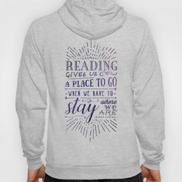 Reading gives us a place to go - inversed Hoody