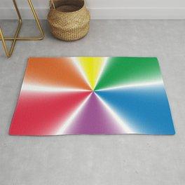 Rainbow Gradient Wheel Rug