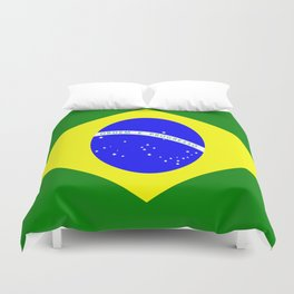 Flag of Brazil Duvet Cover
