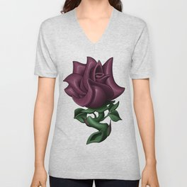 Dusty Rose Unisex V-Neck