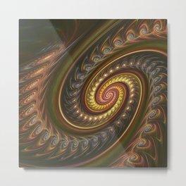 Spirals in a spiral, fractal abstract Metal Print