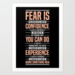 Lab No. 4 Fear Is The Result Dale Carnegie Inspirational Quotes Art Print