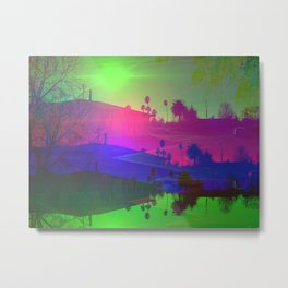 Californian suburb, 2020 by R. Winters Metal Print