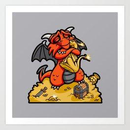 Dmitri the Dragon Loves Art Print