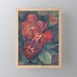Pansies in the Twilight Framed Mini Art Print