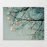the lights Canvas Prints featuring Lights  by Laura Ruth