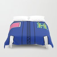 iwatobi Duvet Covers featuring Haru Jacket  by Bunny Frost