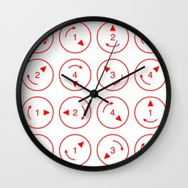 Rotations (Instructions and Code series) Wall Clock