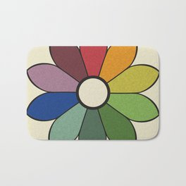 James Ward's Chromatic Circle (no background) Bath Mat