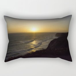 Cliff Top Sunset Rectangular Pillow