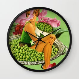 You Want a Peas of Me? Wall Clock
