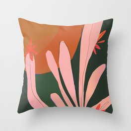 Sunbaked Desert Plant Throw Pillow