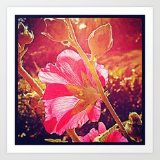'STRAWBERRY SUMMER LIGHT' Art Print