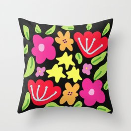Flowers patterns Throw Pillow