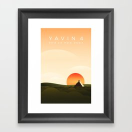 Outer Rim Travel Bureau: Yavin 4 Framed Art Print