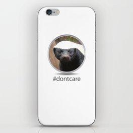 OS XI Honey Badger #dontcare iPhone Skin