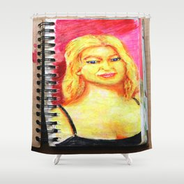 Euro Blonde from A Sketchbook Shower Curtain