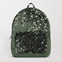 Cactus Green Black Glitter #1 (Faux Glitter - Photography) #shiny #decor #art #society6 Backpack