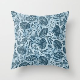 Arabella - Washed Indigo Throw Pillow