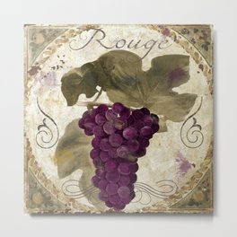 Tuscan Table Rouge Metal Print