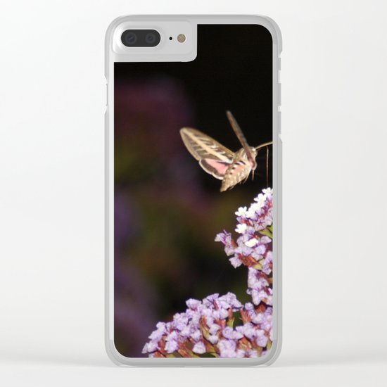 Hummingbird Hawk Moth Clear iPhone Case