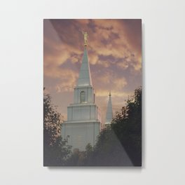 Sunset at Kansas City Temple Metal Print