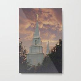 Sunset at Kansas City Temple Metal Print