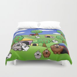 Billy, Bob & Fido.  Duvet Cover