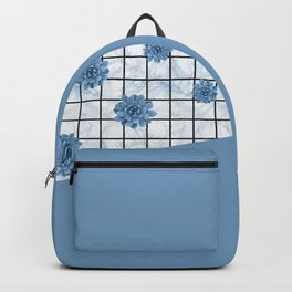 Succulents geometric composition - Blue-Grey Backpack